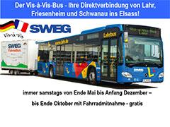SWEG Der Vis-a-Vis-Bus  - Ihre Direktverbindung von Lahr, Friesenheim und Schwanau ins Elsass!